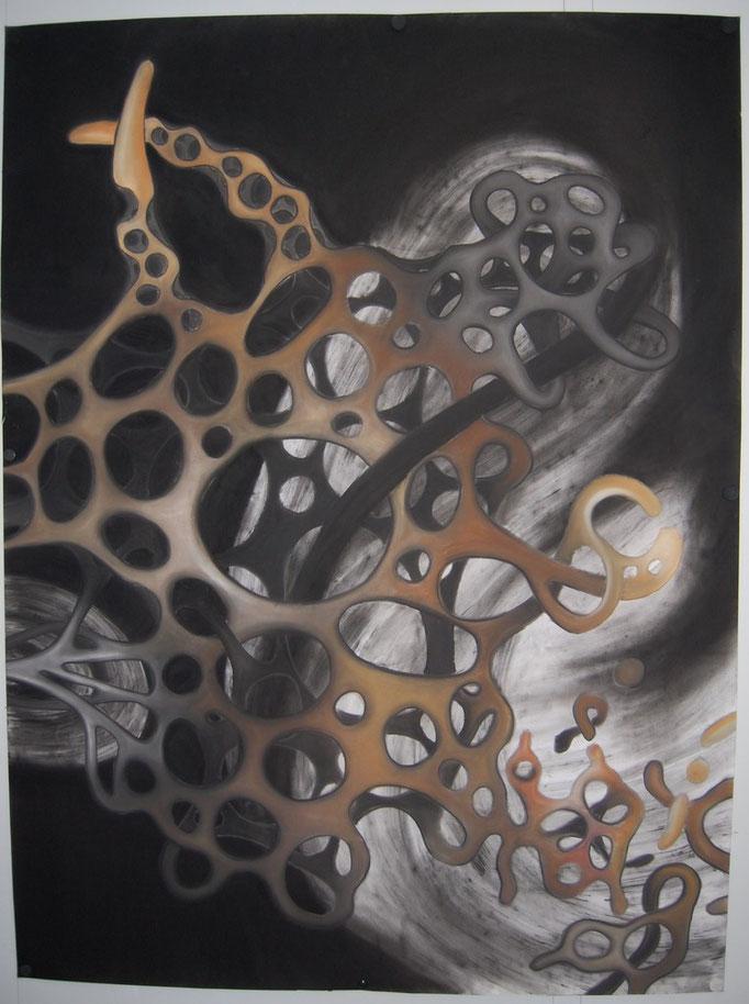 UИHEILB∀R (2010) Pastellkreide auf Papier 150x200cm