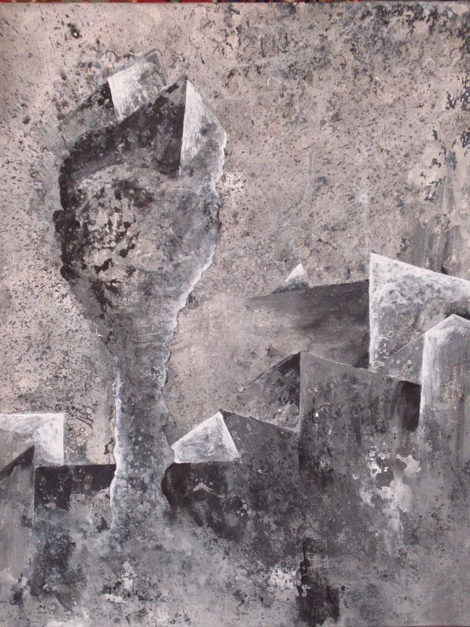 o.T. (2012) Acryl auf Malplatte