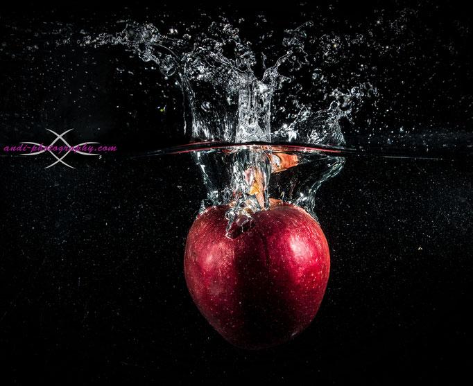 Splashshooting mit Apfel