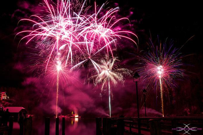 Neujahrsfeuerwerk am Königssee