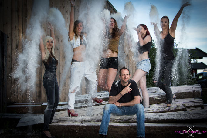 Fünf Models und ich mittendrin. :-)