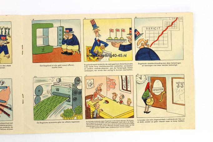 """Duitse propaganda strip """"De bedrieger bedrogen""""."""