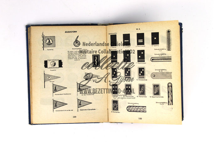 NSB Zakboekje jeugdstorm 1944 distinctieven – Rangen