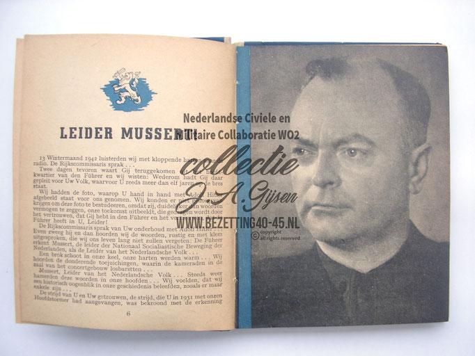 NSB Zakboekje jeugdstorm 1944 Mussert