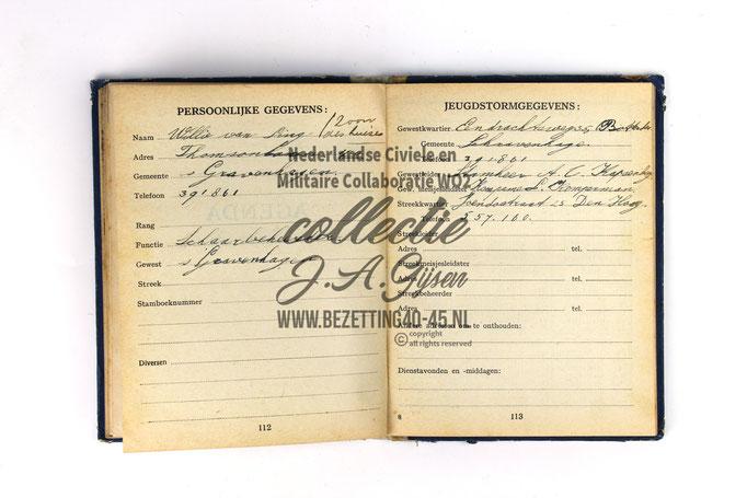 NSB Zakboekje jeugdstorm 1944