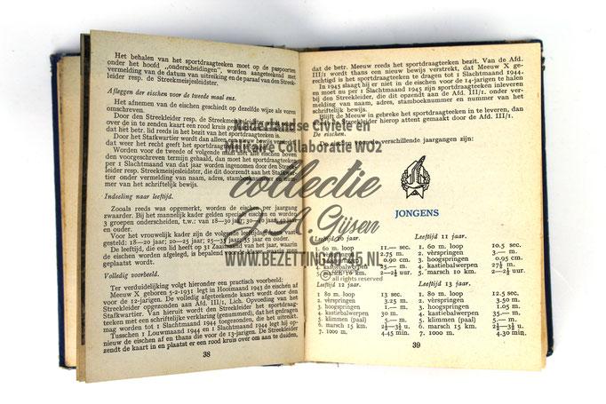 NSB Zakboekje jeugdstorm 1944 Sport insigne