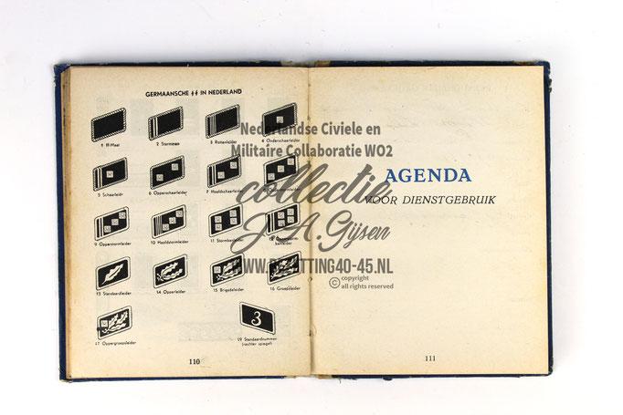 NSB Zakboekje jeugdstorm 1944 distinctieven – Rangen Dutch ss