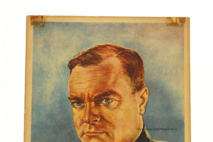 NSB Raam affiche, Tweede Kamerverkiezingen 26 mei 1937, Mussert Lijst 15.  Ontwerper: A.C.E.- Gantzert.