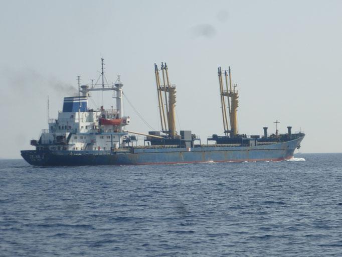 Begegnung mit der Berufsschiffahrt