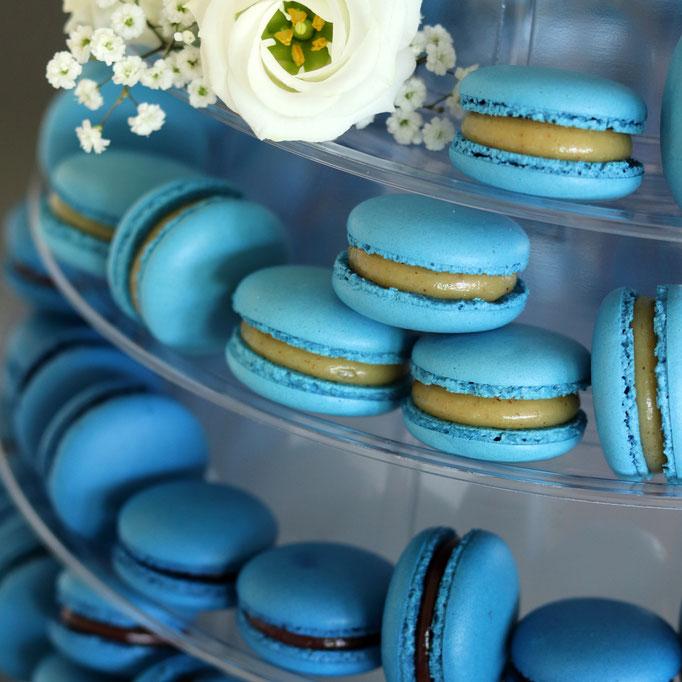 blaue Macarons