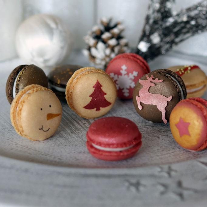 weihnachtliche Macarons