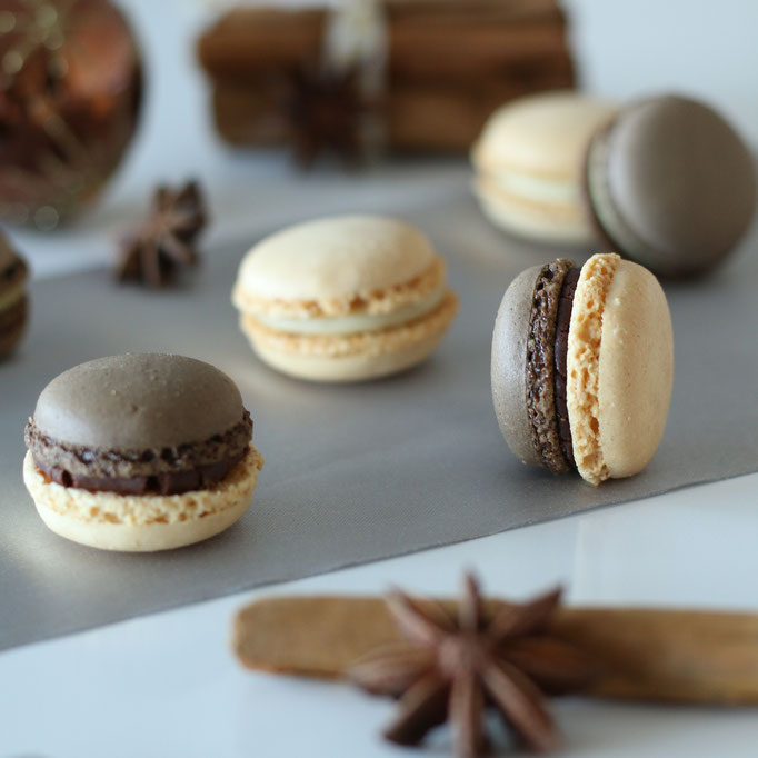 würzige Macarons: Lebkuchen, Kardamom und Chai Latte