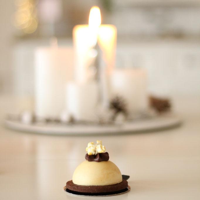 Karamell Popcorn & dunkle Schokolade