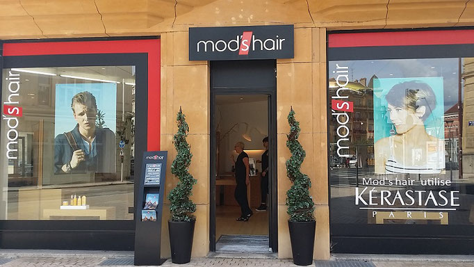 Salon coiffure modshair metz - vitrine