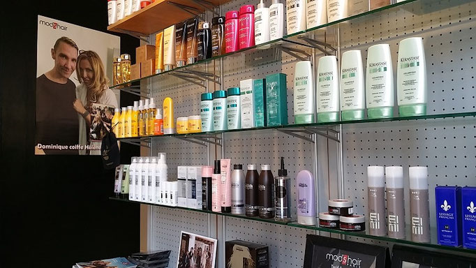 Salon coiffure modshair metz - produits