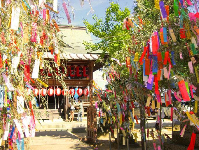 七夕神社の夏祭り(大板井駅)