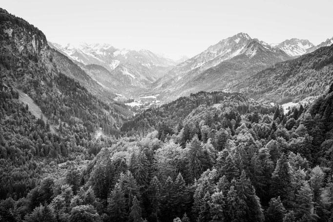 Blick von der Heini-Klopfer-Skiflugschanze
