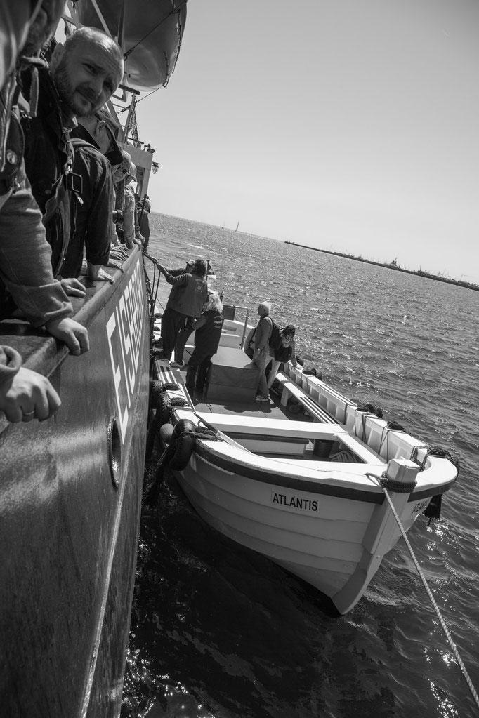 Ausbooten vor Helgoland