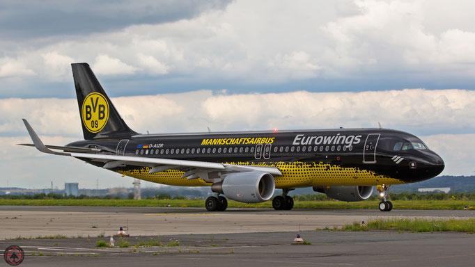 "Borussia Dortmund - ""Mannschaftsairbus""  Eurowings D-AIZR Airbus A320"