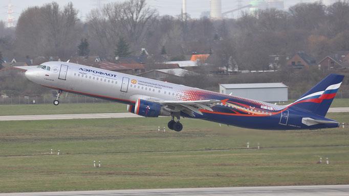 Manchester United - Aeroflot Airbus A321 VP-BTL