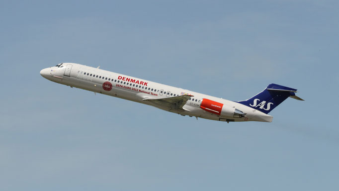 Denmark National Team- UEFA Euro 2012 OY-KHU SAS Scandinavian Airlines McDonnell Douglas MD-87
