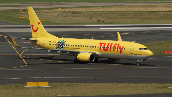 Hannover 96 D-AHFK TUIfly Boeing 737-8K5