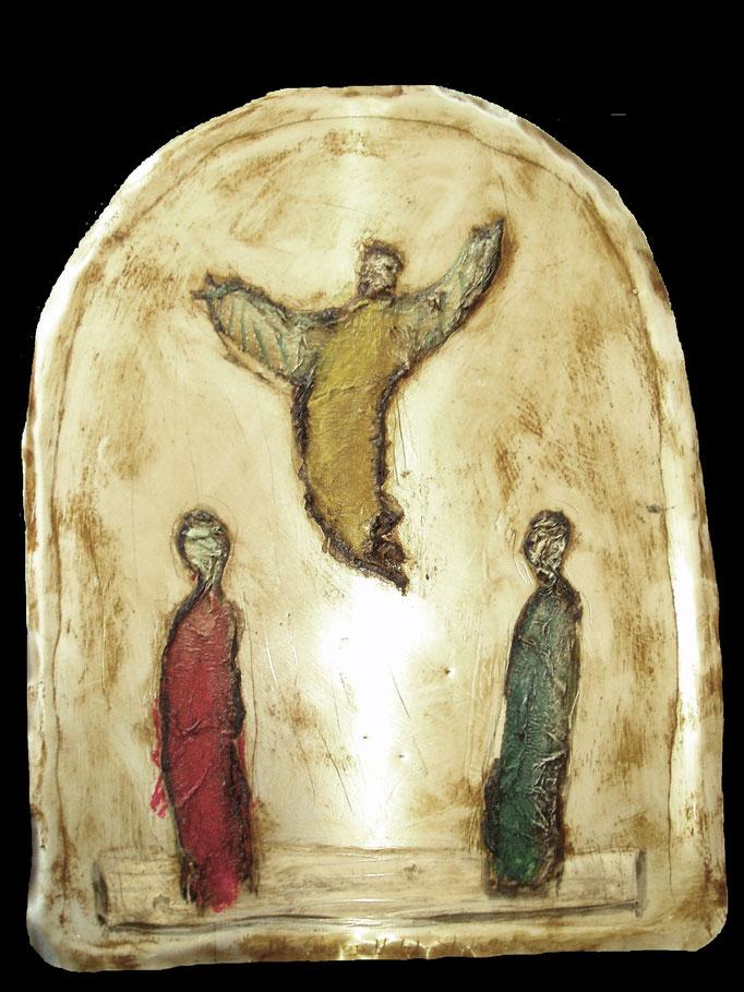 Auferstehung, Vliesbild, Höhe 40 cm, 2010