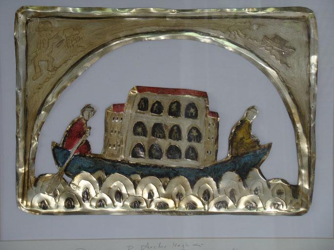 Arche Noah, Vliesbild, 40 x 60 cm, 2015