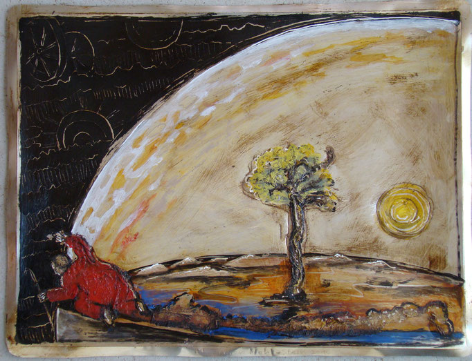 Terra incognita, Vliesbild, 40 x 60 cm, 2016