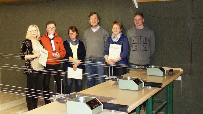 Sieger und Platzierte: M. Monhoff, F.-J. Monhoff, M. Otto,                 W. Kasten, A. Welschhoff, D. Dohle