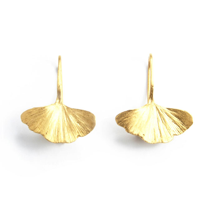 Gingko Earrings small