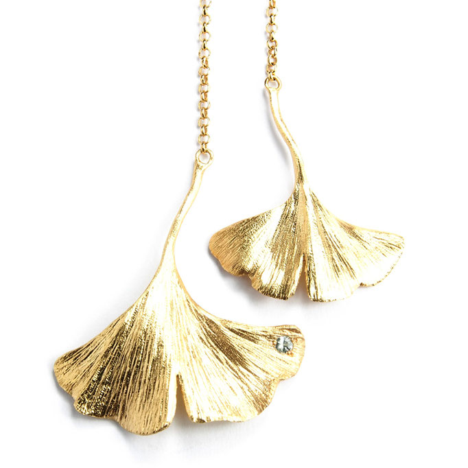 Gingko Chain Necklace