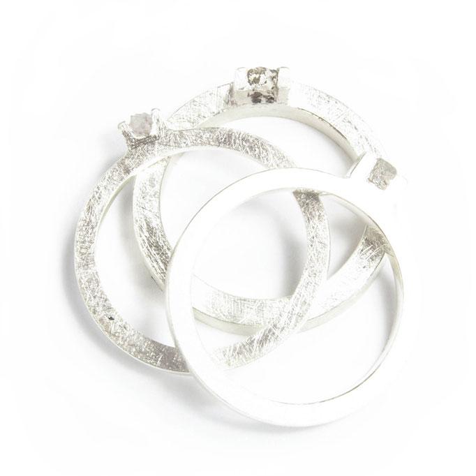 Rough Diamond Rings