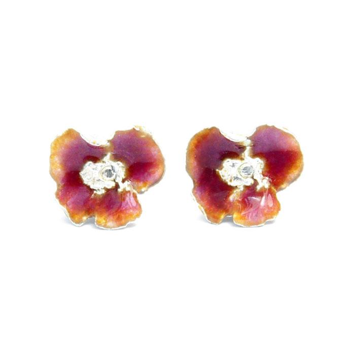 Orchid Flower Earrings