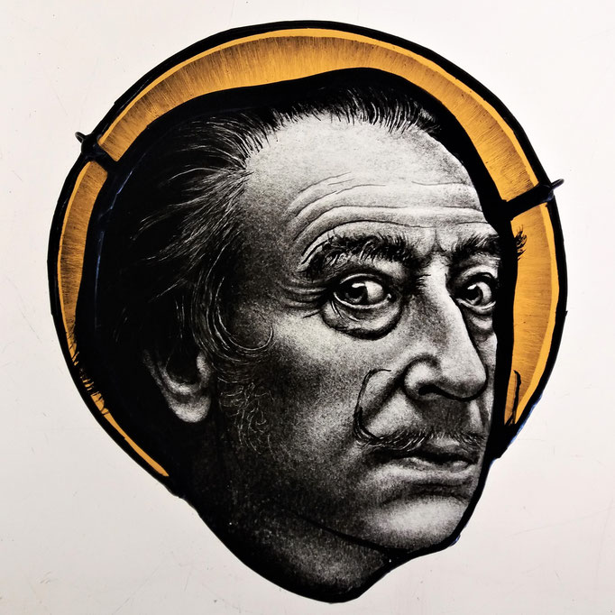glas in lood Dali / stained glass Dali