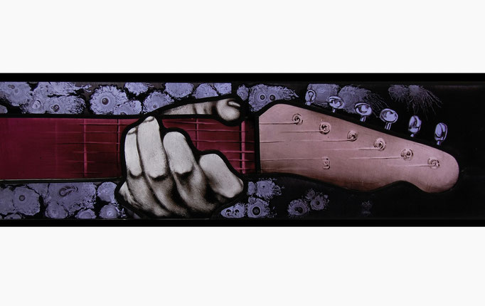 glas in lood gitaar / stained glass guitar