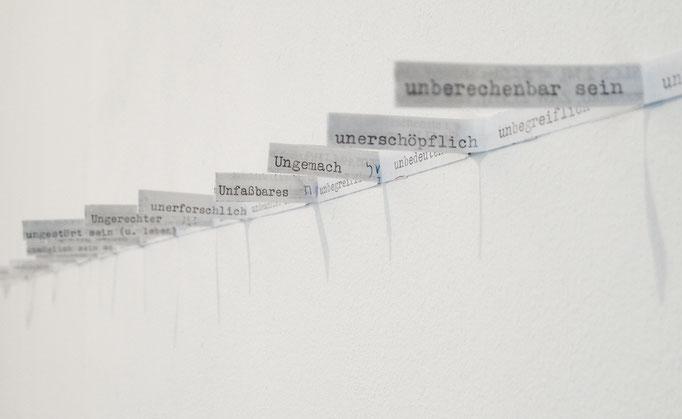 """""""unglaubliches u"""", 2017, Papier"""