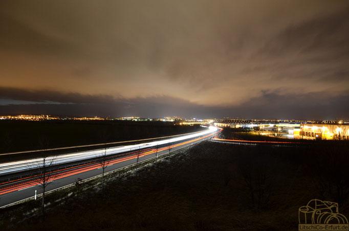 Nacht über Erfurt