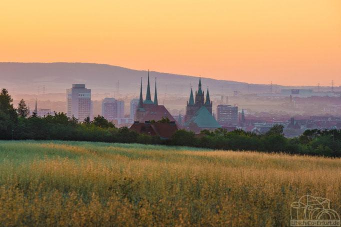 Sonnenaufgang über Erfurt