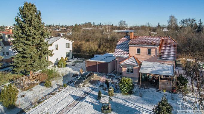 Luftbild: Einfamilienhaus bei Erfurt, Thüringen