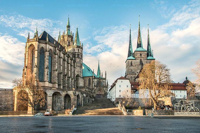 Dom und Severikirche in Erfurt, Thüringen