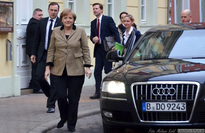 Angela Merkel in Erfurt
