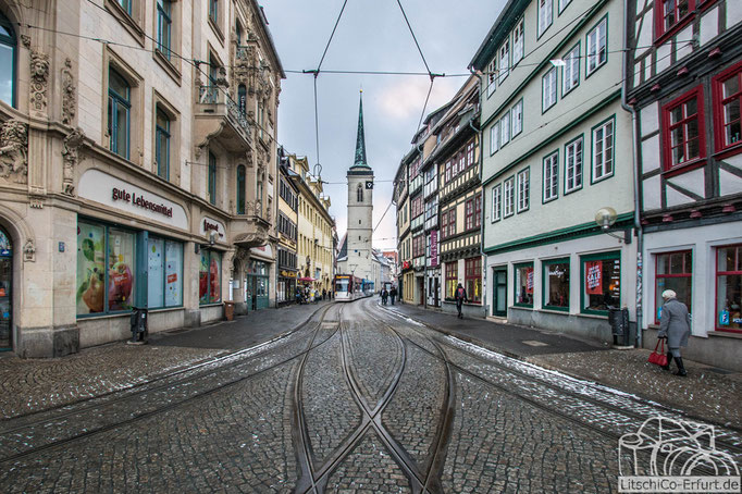 Ein Blick in der Marktstraße.