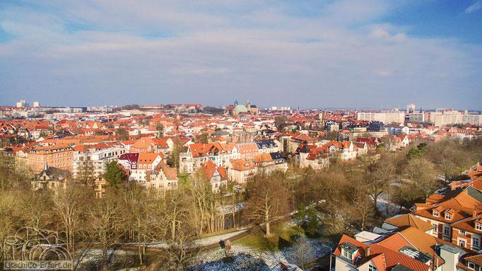 Ausblick über Erfurt in Richtung Erfurter Dom