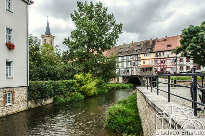 Blick auf die Krämerbrücke in Erfurt