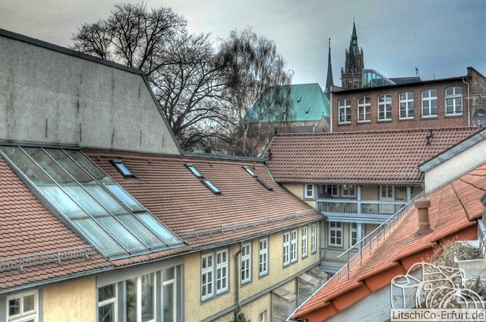 Dachterasse mit Domblick in Erfurt