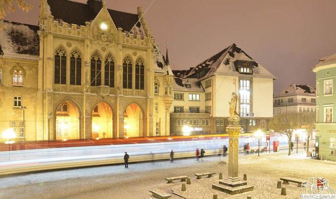 Fischmarkt, Erfurt im Winter
