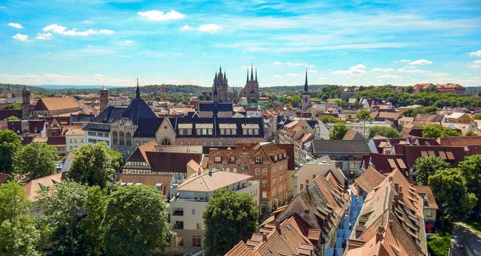 Die Erfurter Krämerbrücke zum Krämerbrückenfest 2017