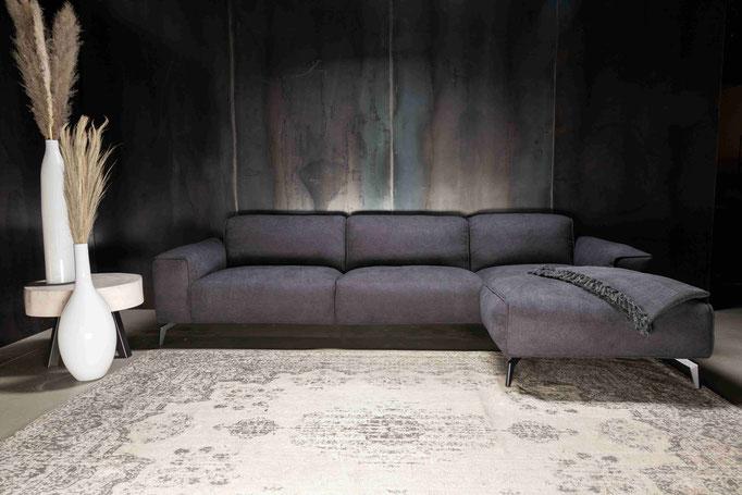 MÖBELLOFT Design Sofa HIMMEL als Einzelsofa, Ecksofa oder Wohnlandschaft - mit Echtelder, Stoff oder Samt frei zu konfigurieren