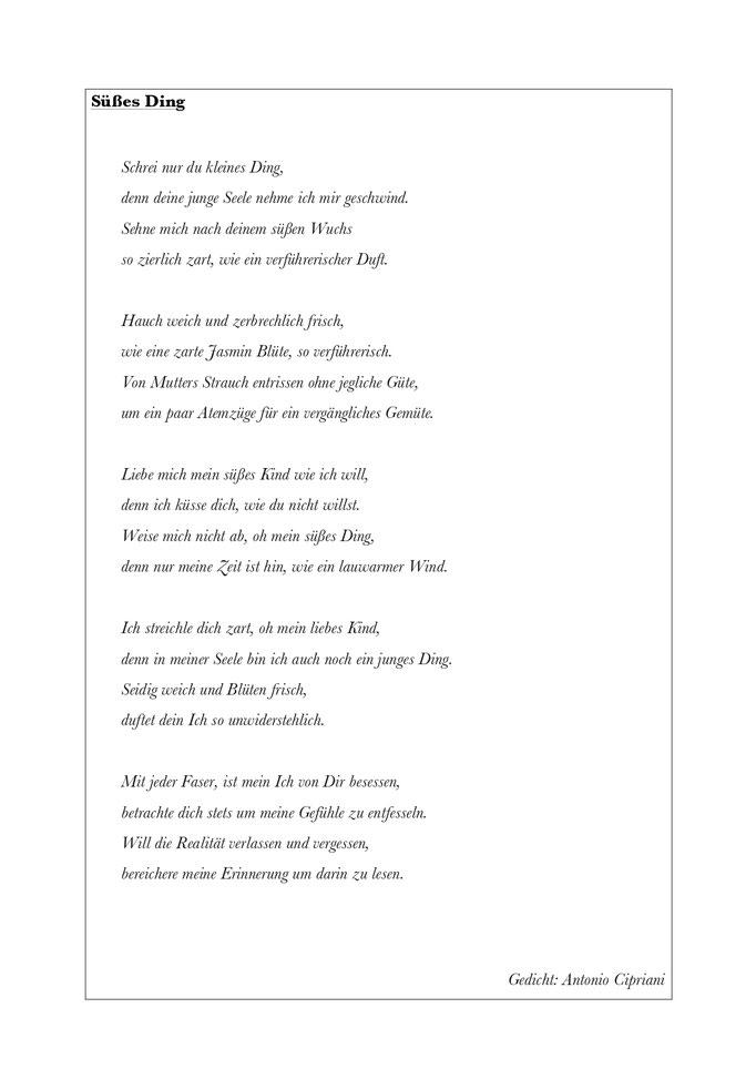 Verführen gedichte zum Willkommen in